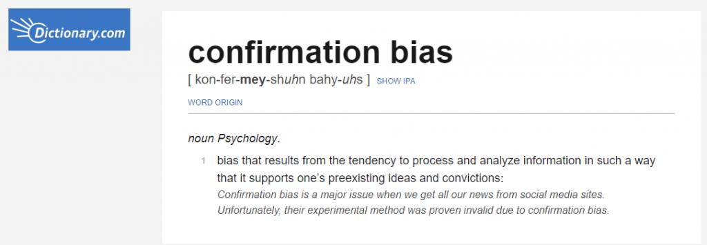 Dictionary.com explains bias